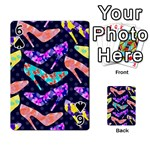 Colorful High Heels Pattern Playing Cards 54 Designs  Front - Spade6