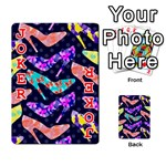 Colorful High Heels Pattern Playing Cards 54 Designs  Front - Joker2