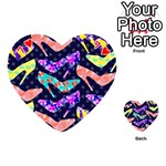 Colorful High Heels Pattern Playing Cards 54 (Heart)  Front - Heart7