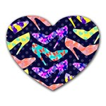 Colorful High Heels Pattern Heart Mousepads