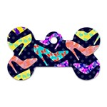 Colorful High Heels Pattern Dog Tag Bone (Two Sides) Front