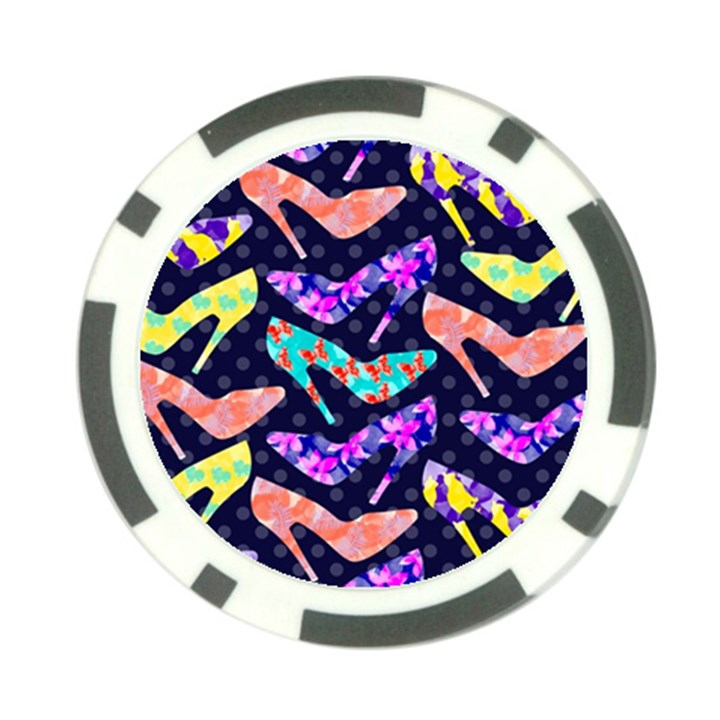 Colorful High Heels Pattern Poker Chip Card Guards