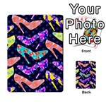 Colorful High Heels Pattern Multi-purpose Cards (Rectangle)  Back 37