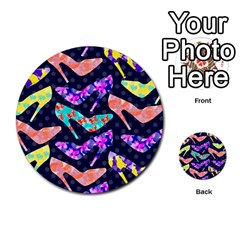 Colorful High Heels Pattern Multi Purpose Cards (round)  by DanaeStudio
