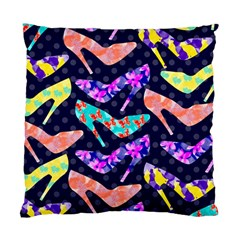 Colorful High Heels Pattern Standard Cushion Case (one Side) by DanaeStudio