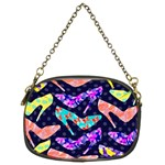 Colorful High Heels Pattern Chain Purses (Two Sides)  Front