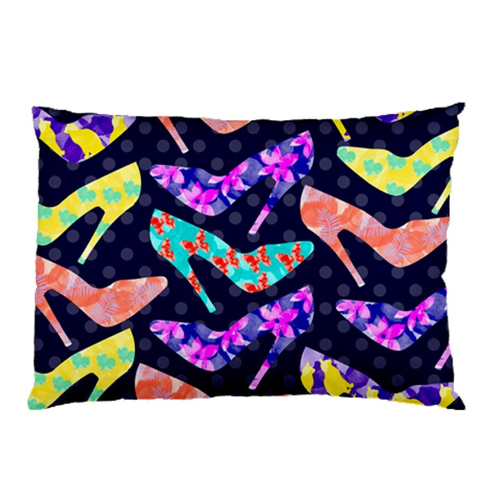 Colorful High Heels Pattern Pillow Case