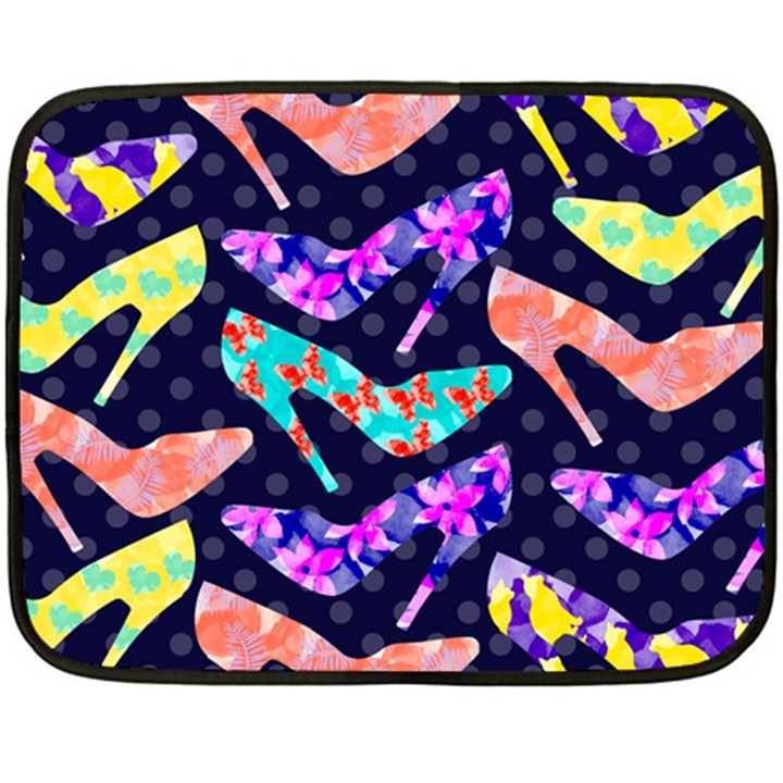 Colorful High Heels Pattern Double Sided Fleece Blanket (Mini)