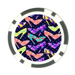 Colorful High Heels Pattern Poker Chip Card Guards (10 pack)  Back