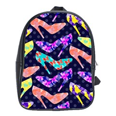 Colorful High Heels Pattern School Bags(large)  by DanaeStudio