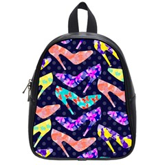 Colorful High Heels Pattern School Bags (small)  by DanaeStudio