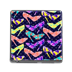 Colorful High Heels Pattern Memory Card Reader (square) by DanaeStudio