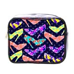 Colorful High Heels Pattern Mini Toiletries Bags Front