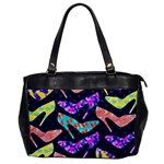 Colorful High Heels Pattern Office Handbags Front