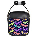 Colorful High Heels Pattern Girls Sling Bags Front