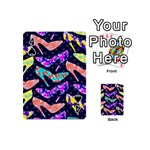 Colorful High Heels Pattern Playing Cards 54 (Mini)  Front - Spade4