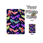 Colorful High Heels Pattern Playing Cards 54 (Mini)  Front - HeartK