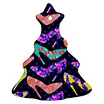 Colorful High Heels Pattern Christmas Tree Ornament (2 Sides)