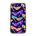 Colorful High Heels Pattern Apple iPhone 4 Case (Clear)