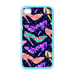 Colorful High Heels Pattern Apple Iphone 4 Case (color) by DanaeStudio