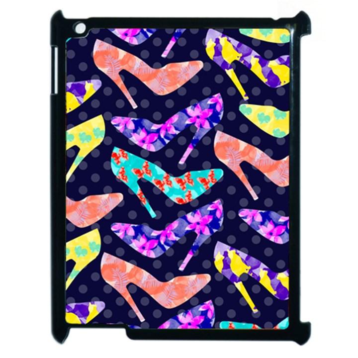 Colorful High Heels Pattern Apple iPad 2 Case (Black)