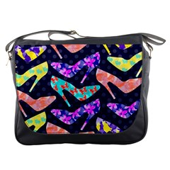 Colorful High Heels Pattern Messenger Bags by DanaeStudio