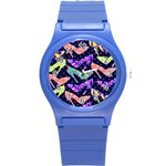 Colorful High Heels Pattern Round Plastic Sport Watch (S)