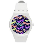 Colorful High Heels Pattern Round Plastic Sport Watch (M)