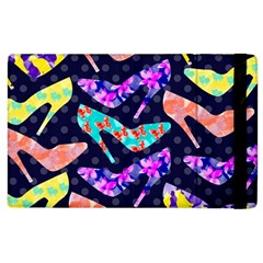 Colorful High Heels Pattern Apple Ipad 2 Flip Case by DanaeStudio