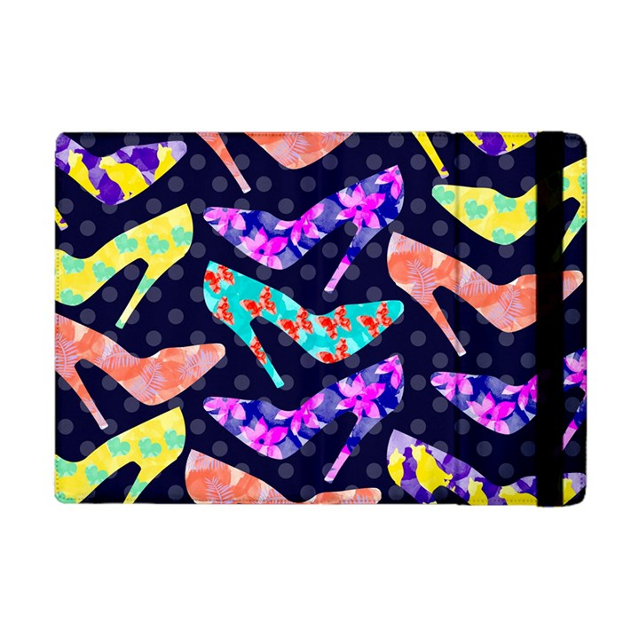 Colorful High Heels Pattern Apple iPad Mini Flip Case