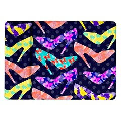 Colorful High Heels Pattern Samsung Galaxy Tab 10 1  P7500 Flip Case by DanaeStudio