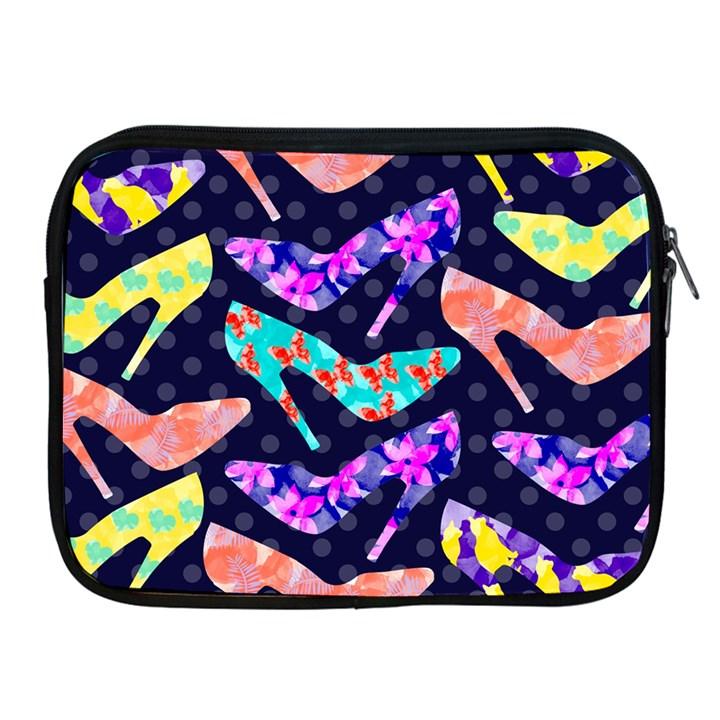 Colorful High Heels Pattern Apple iPad 2/3/4 Zipper Cases