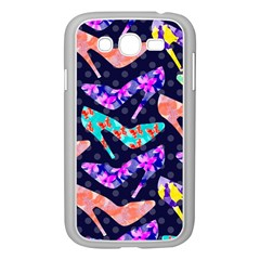 Colorful High Heels Pattern Samsung Galaxy Grand Duos I9082 Case (white) by DanaeStudio