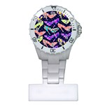 Colorful High Heels Pattern Plastic Nurses Watch