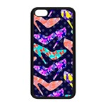 Colorful High Heels Pattern Apple iPhone 5C Seamless Case (Black)