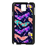 Colorful High Heels Pattern Samsung Galaxy Note 3 N9005 Case (Black) Front