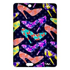 Colorful High Heels Pattern Amazon Kindle Fire Hd (2013) Hardshell Case by DanaeStudio
