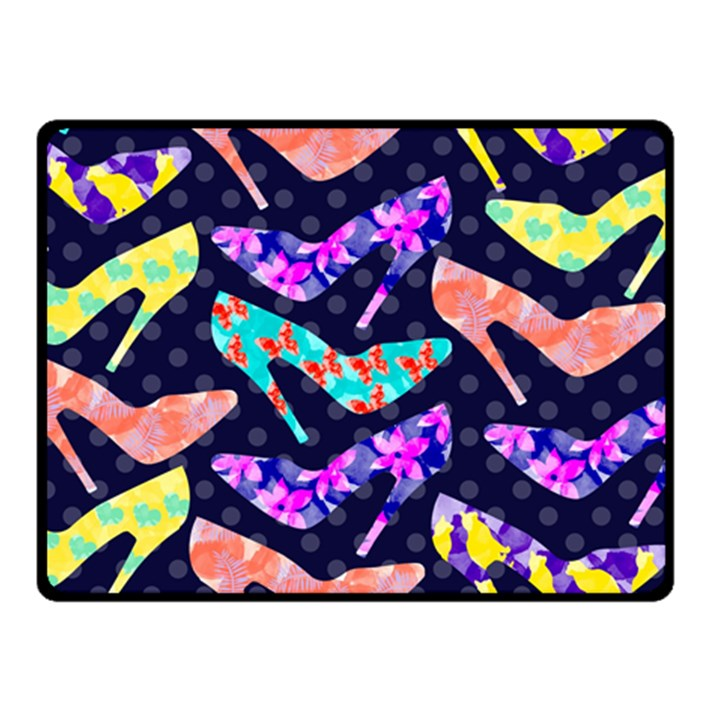 Colorful High Heels Pattern Double Sided Fleece Blanket (Small)