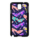 Colorful High Heels Pattern Samsung Galaxy Note 3 Neo Hardshell Case (Black)