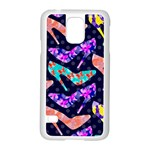 Colorful High Heels Pattern Samsung Galaxy S5 Case (White)
