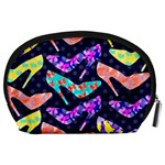 Colorful High Heels Pattern Accessory Pouches (Large)  Back