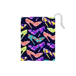 Colorful High Heels Pattern Drawstring Pouches (Small)