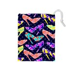 Colorful High Heels Pattern Drawstring Pouches (Medium)