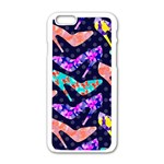 Colorful High Heels Pattern Apple iPhone 6/6S White Enamel Case