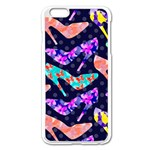 Colorful High Heels Pattern Apple iPhone 6 Plus/6S Plus Enamel White Case
