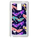 Colorful High Heels Pattern Samsung Galaxy Note 4 Case (White)