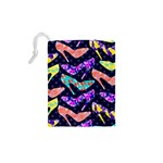 Colorful High Heels Pattern Drawstring Pouches (XS)  Back