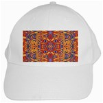 Oriental Watercolor Ornaments Kaleidoscope Mosaic White Cap Front