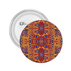Oriental Watercolor Ornaments Kaleidoscope Mosaic 2 25  Buttons
