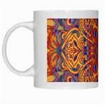 Oriental Watercolor Ornaments Kaleidoscope Mosaic White Mugs Left